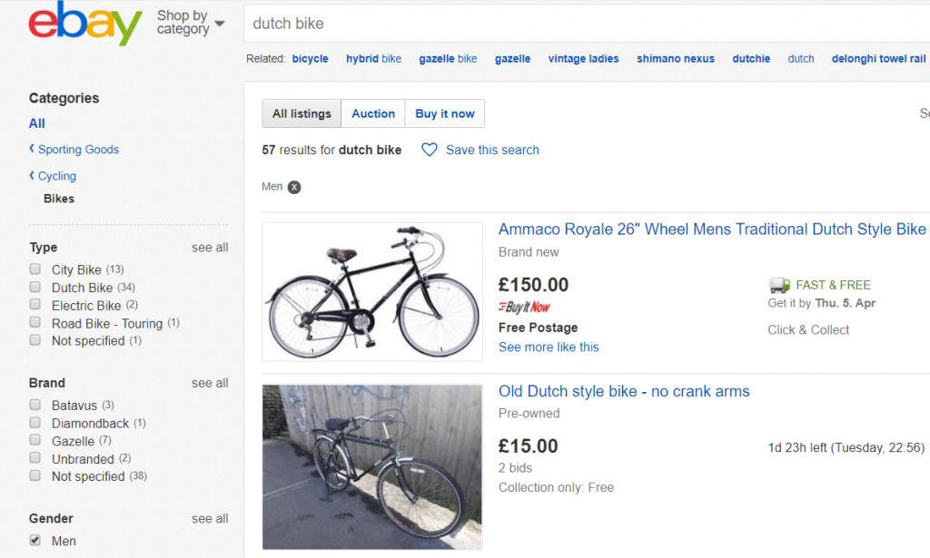second hand bike on ebay