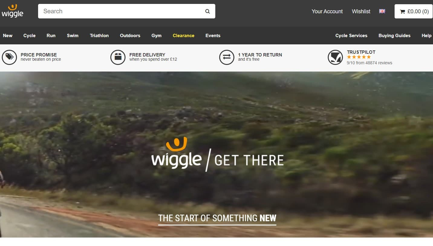 Wiggle UK website