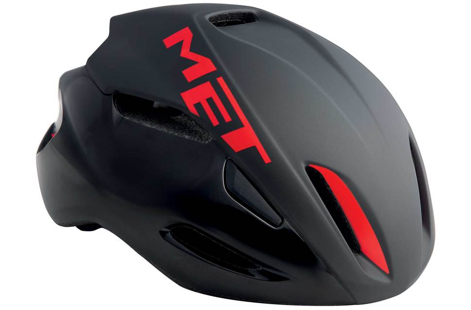 MET Manta Black Red Rod Helmet