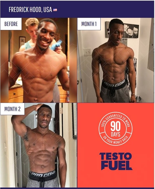 TestoFuel Before and After - Fredrick Hood