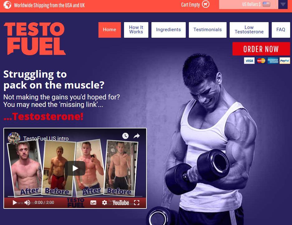 TestoFuel Website