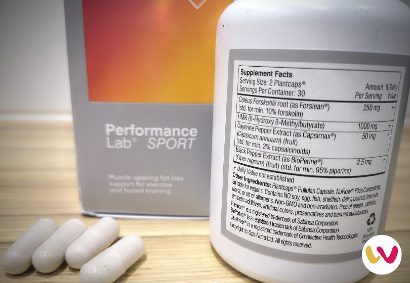 Performance Lab SPORT Fat Burner Ingredients