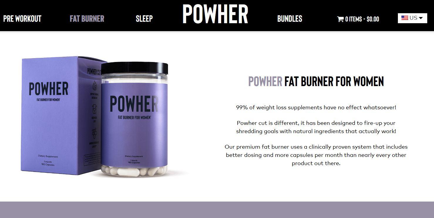 Powher Fat Burner Website