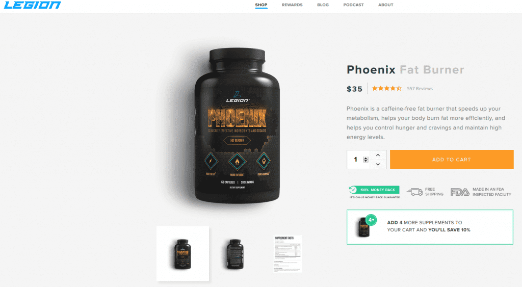 Phoenix Fat Burner Website